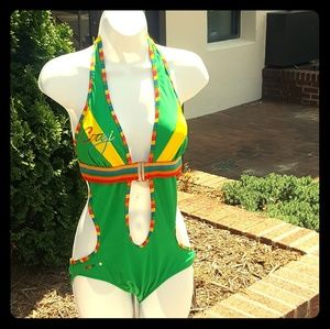 Vintage COOGIE One-pc Swimsuit NWT DEADSTOCK